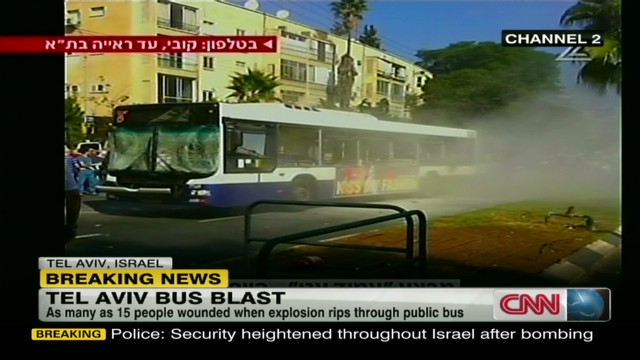 Witness describes Tel Aviv bomb blast