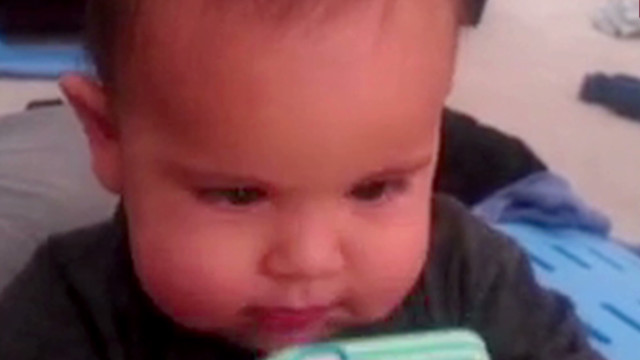 Distraction: Baby talks to Siri