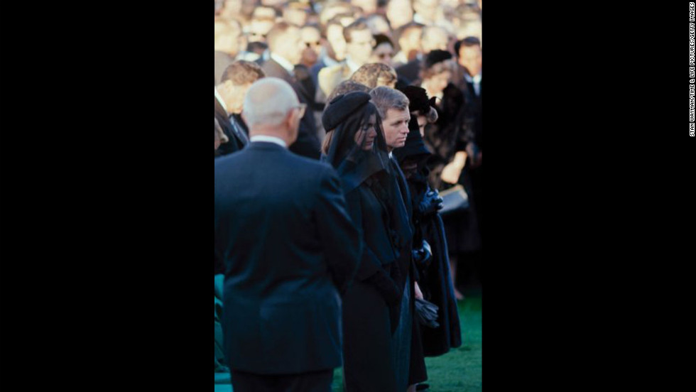 "John F. Kennedy's widow, Jacqueline Kennedy, and brother Robert Kennedy attend his funeral at Arlington National Cemetery. See the complete gallery of photos at <a href=""http://life.time.com/history/john-f-kennedys-funeral-photos-from-arlington-cemetery-november-1963/#1"" target=""_blank""><strong>LIFE.com</a></strong>."