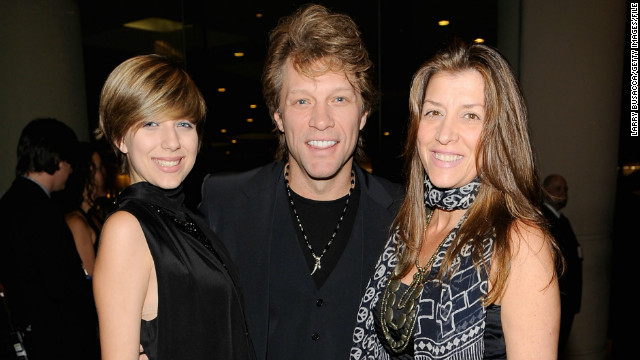 Jon Bon Jovi with daughter Stephanie Bon Jovi, left, and wife Dorothea Hurley. Jon Bon Jovi praised the New Jersey Law.