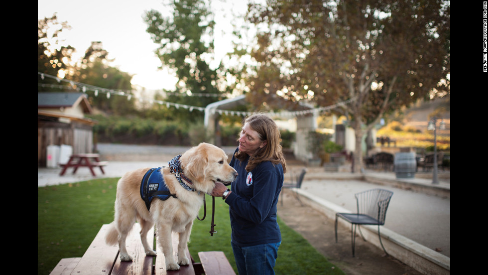 Cortani started training dogs more than 30 years ago while she was in the Army, and she translated that to civilian life, where she runs a canine obedience school. It was only recently that she started focusing on war veterans.