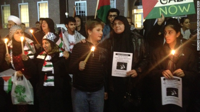 More than 500 people attend a vigil Wednesday in Dearborn, Michigan, in support of Palestinians in Gaza.