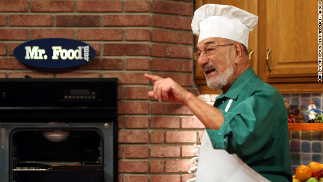 "TV chef Art Ginsburg billed himself as ""Mr. Food."""
