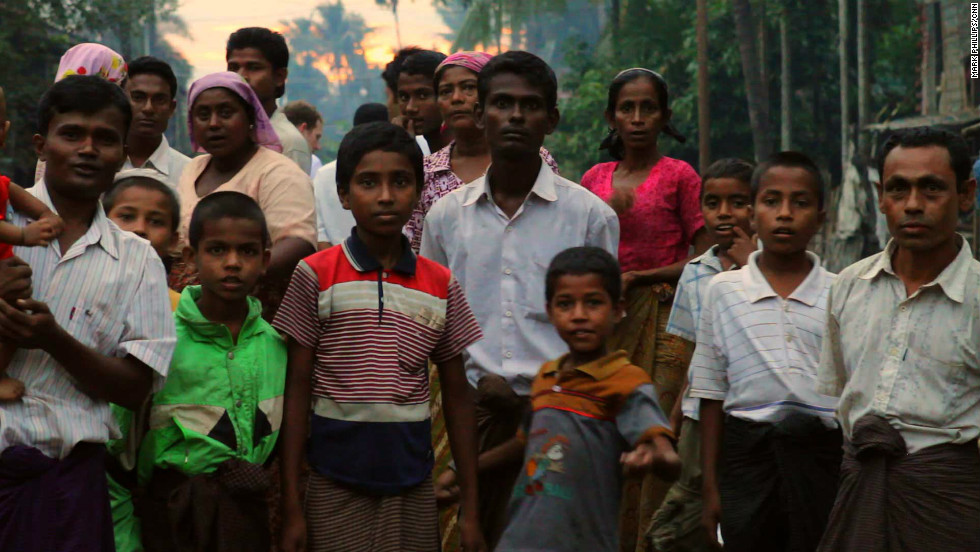 The Rohingya are stateless with nowhere to go. Driven by fear many are congregating in huge makeshift camps on the edge of the Rahkine town of Sittwe.