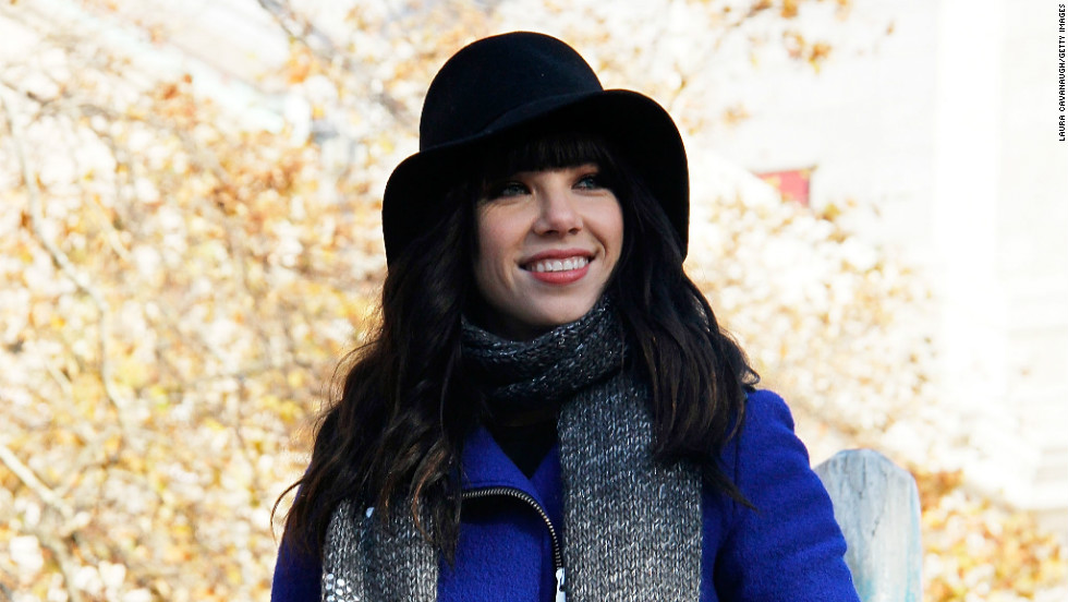 Carly Rae Jepsen was another one of the acts at the Macy's Thanksgiving Day Parade on November 22.