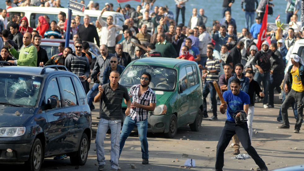 Clashes rocked the coastal city of Alexandria on Friday.