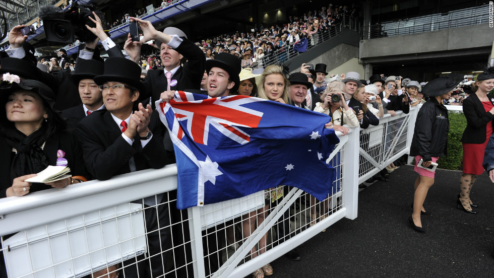 Australians have taken the mare to their hearts, with diehard fans even traveling to Britain's Royal Ascot to watch her compete.
