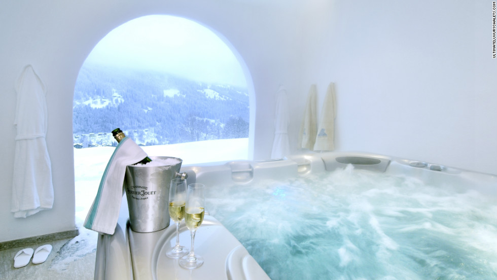 Chesa Falcun in the Klosters Valley has all the mod cons and comes with a personal chef and two chauffeurs, but its pièce de résistance is its covered outdoor hot tub -- perfect when the snow is falling.
