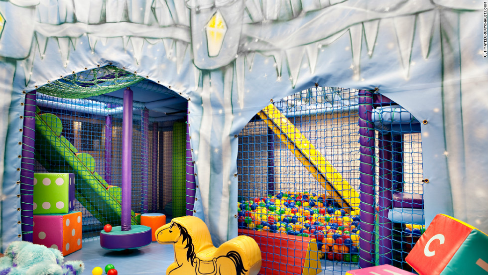 You can have a waterfall or air jet massage at the Tivoli Lodge, but if you bring any kids most of your time will be spent on crowd control in the chalet's indoor two-storey soft play gym that can cater for 20 children. Just bring your earplugs.