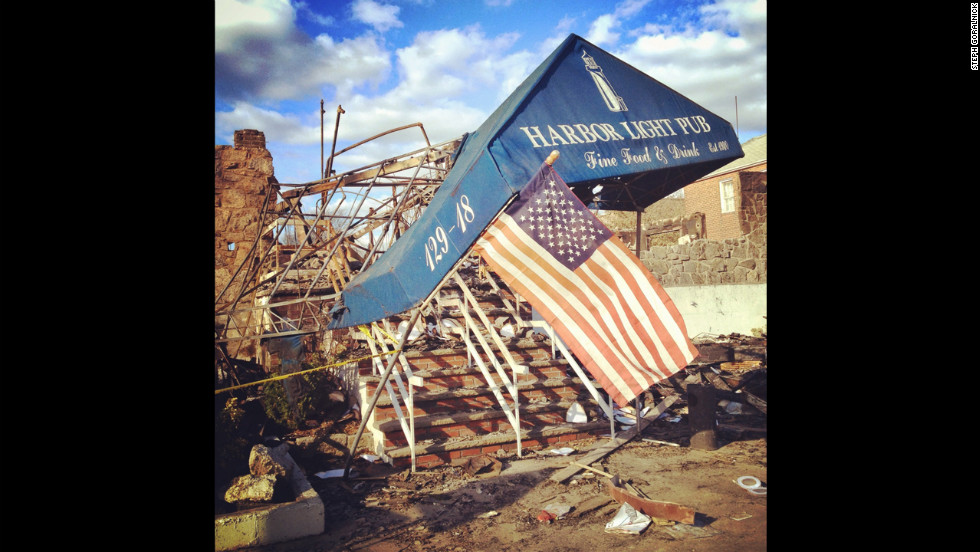 The beachfront of Rockaway suffered heavily in the storm. Goralnick says she doesn't want relief efforts to fade as the media spotlight does.