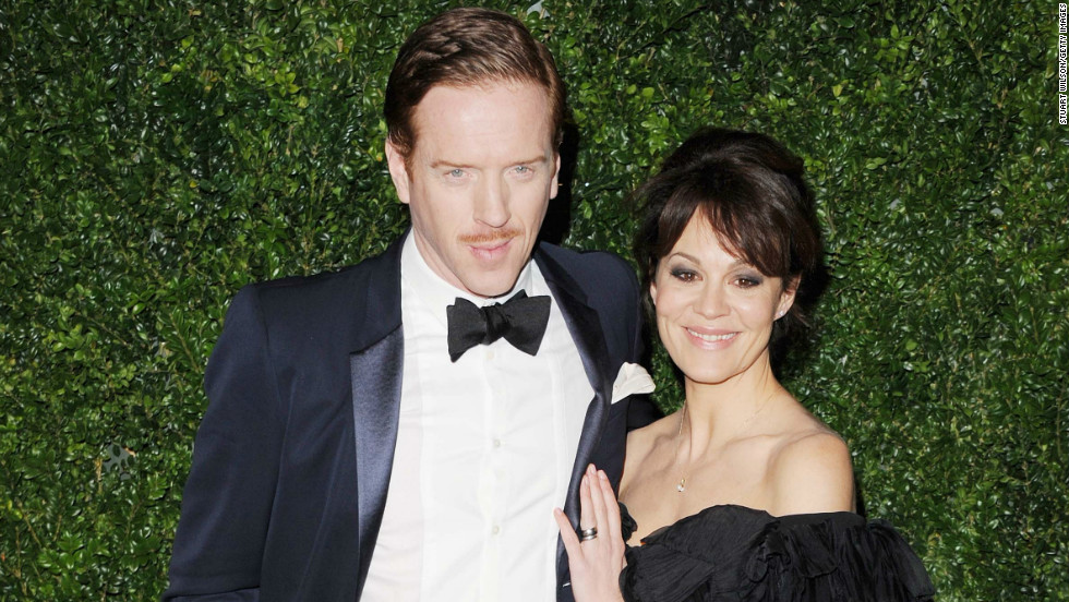 Damian Lewis and wife Helen McCrory pause on the red carpet at the 58th London Evening Standard Theatre Awards on November 25.