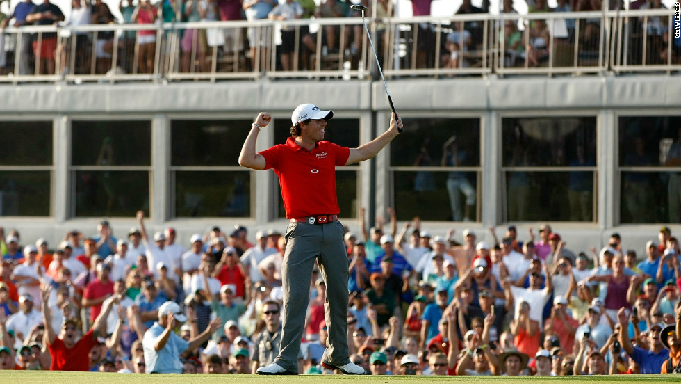 After a mid-season slump, McIlroy roared back to form with an eight-shot victory at the PGA Championship to seal his second major triumph. It was the biggest winning margin in majors history, as he took the record from Jack Nicklaus -- the game's greatest ever player.