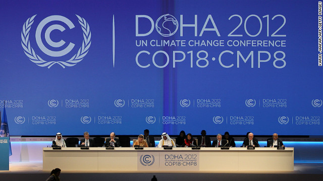 Delegates at the opening of the latest round of U.N. climate talks which are being hosted in the Middle East for the first time.