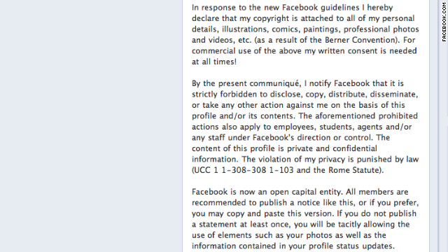 A privacy hoax has been circulating on Facebook.