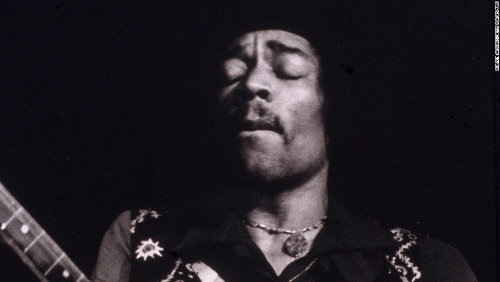 "With the release of albums ""Axis: Bold as Love"" and ""Electric Ladyland"" in 1968, Hendrix, as seen here performing in the late '60s, was turning into a larger-than-life rock musician."
