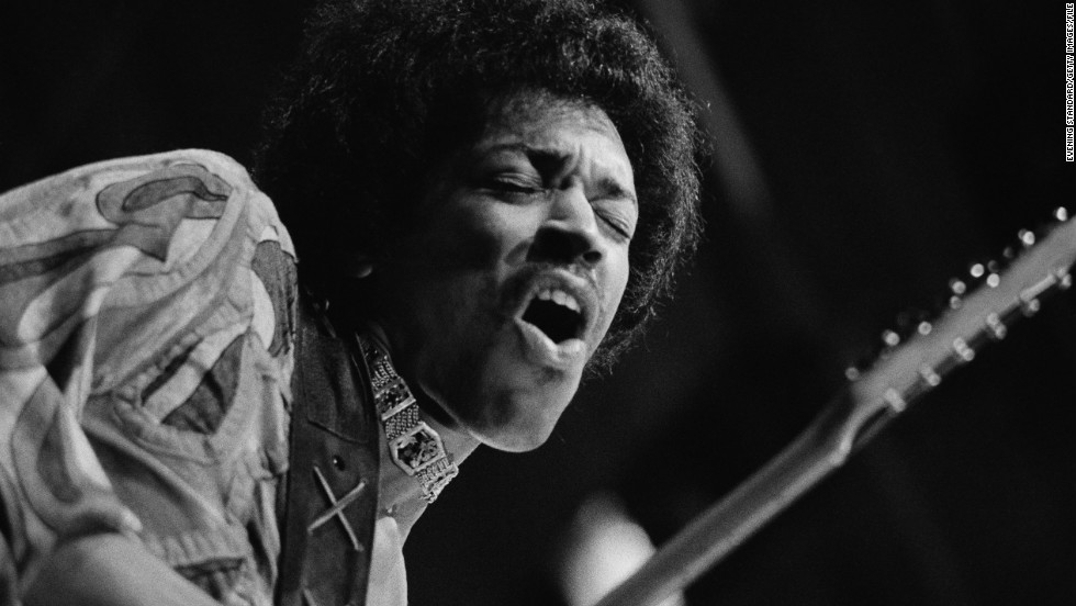 Here, Hendrix performs at the Isle of Wight Festival in August 1970, which according to Rolling Stone was the rock guitarist's last concert before his death.