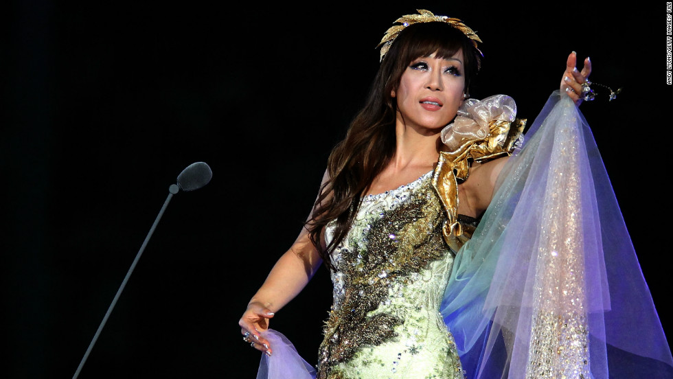 Sumi Jo performing at the Opening Ceremony of the IAAF World Athletics Championships in Daegu, South Korea in August 2011. She also performed at the 2008 Beijing Olympic Games and the 2002 Football World Cup in South Korea.