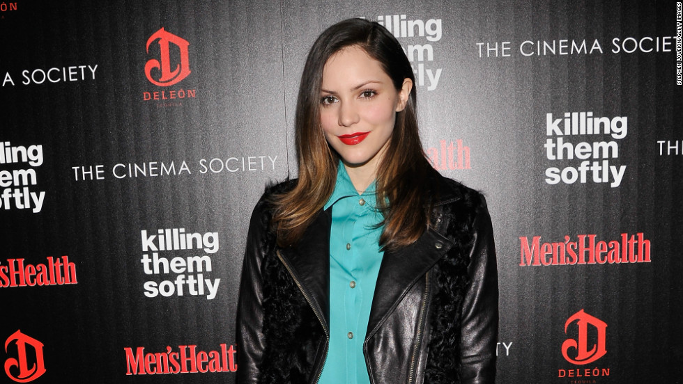"""Smash"" star Katharine McPhee strikes a pose as she arrives at a screening of ""Killing Them Softly"" in New York City on November 26."