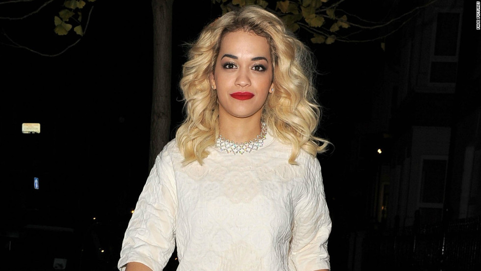 Singer Rita Ora steps out in London after the 2012 British Fashion Awards on November 27.