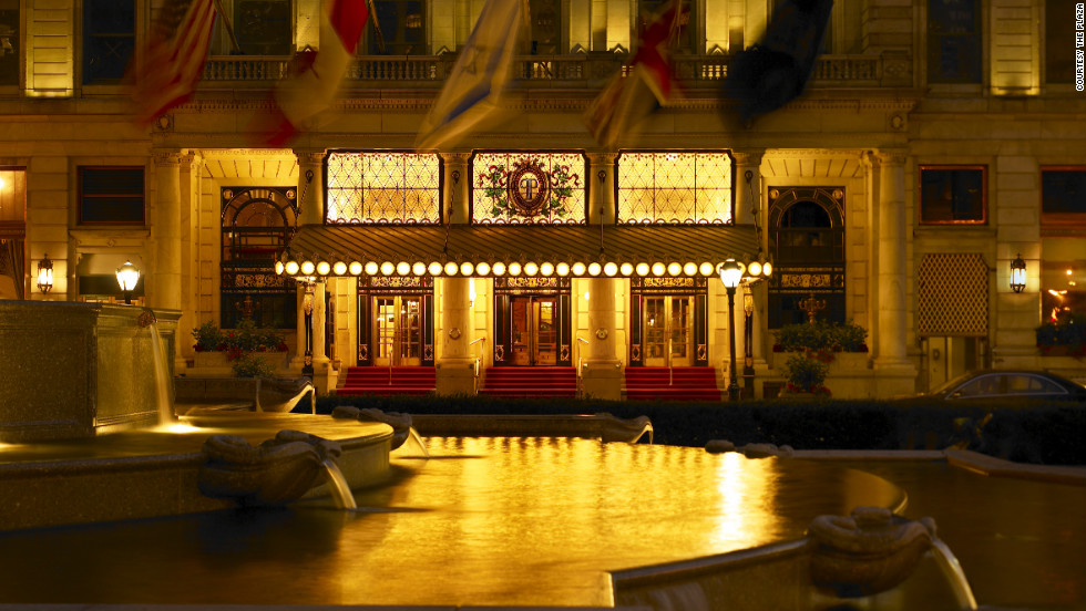 New York's Plaza Hotel is steps from Fifth Avenue's elaborate holiday store window displays and offers elegant dining even if you can't afford to splurge on a room.