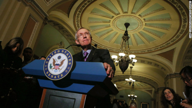 Senate Majority Leader Harry Reid answers questions November 27 about his campaign to deter filibustering.