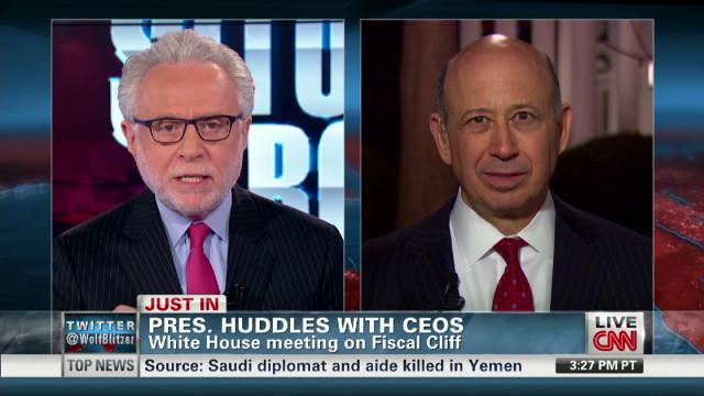 Goldman Sachs CEO talks with CNN