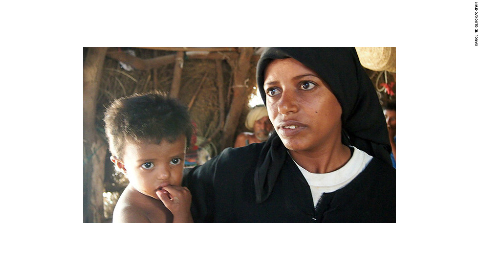 Yemeni mother Saeeda Mohammed Ismail: One month ago, we had two days without any food but then we borrowed bread from a neighbour.