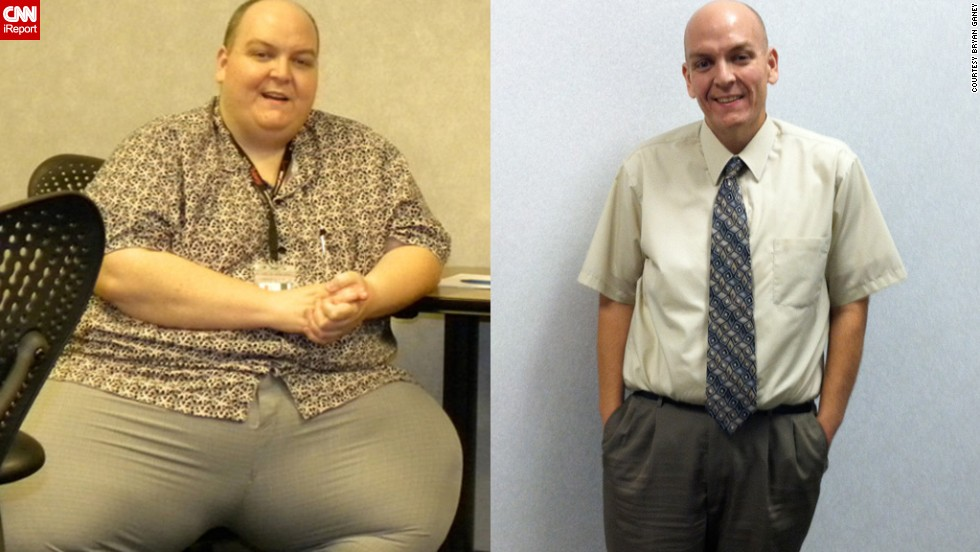 "For years, Bryan Ganey worked the night shift, bingeing on fast food and soda for breakfast, lunch and dinner. By the age of 37, he had a body mass index of 87 (anything over 30 is considered obese). Then, a pulmonary embolism changed his life. In 2½ years, he's lost 347 pounds. Ganey has also run a 5K without a stopping and cut an hour off of his 10K race time. He's even started a weight loss consulting business on the side and is working on a book. ""I turn 40 next month and I can't wait,"" Ganey wrote in an e-mail in December. ""Most people dread getting older. For me, it's an achievement. I made it. Life has never been better!""<a href=""http://www.cnn.com/2012/01/25/health/weight-loss-profile-bryan-ganey/index.html "">Read more about Ganey's weight loss journey</a>"