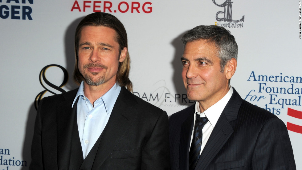 "Pitt is also a passionate advocate for marriage equality. He and his pal George Clooney appeared in a play about the issue in March 2012, and he told CNN in November 2012 that marriage is ""one of our last big issues of equality. ... [T]here's a certain faction of our society that is not being included."""