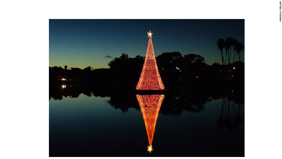 A reflection of Christmas in Florida.