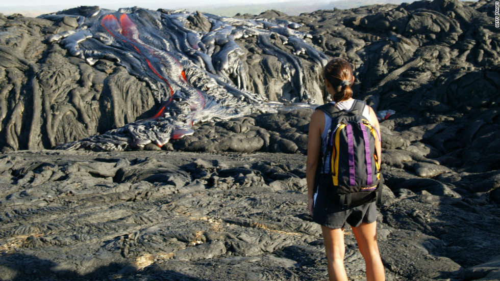 Hawaii's mountainous island terrain includes many sites such as Volcano National Park. Come prepared with the North Face's Cat's Meow sleeping bag.