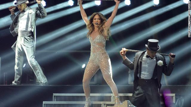 American singer Jennifer Lopez performs in Shanghai, China, last Saturday.