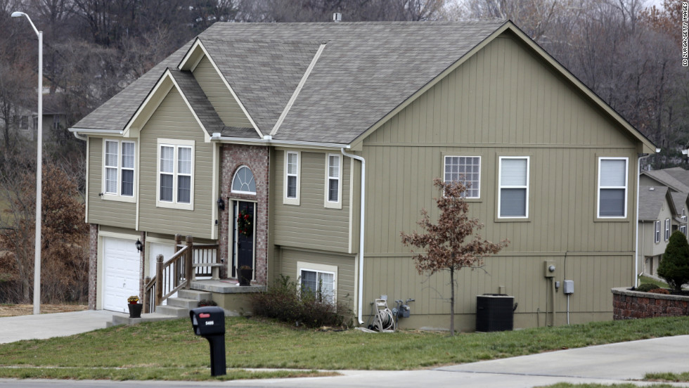The residence of Kasandra Perkins, Belcher's girlfriend, is seen on December 1, 2012, in Kansas City.