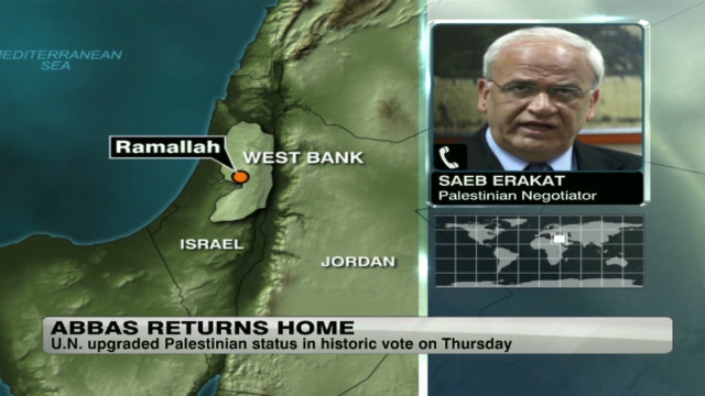 Saeb Erakat talks Palestinian future