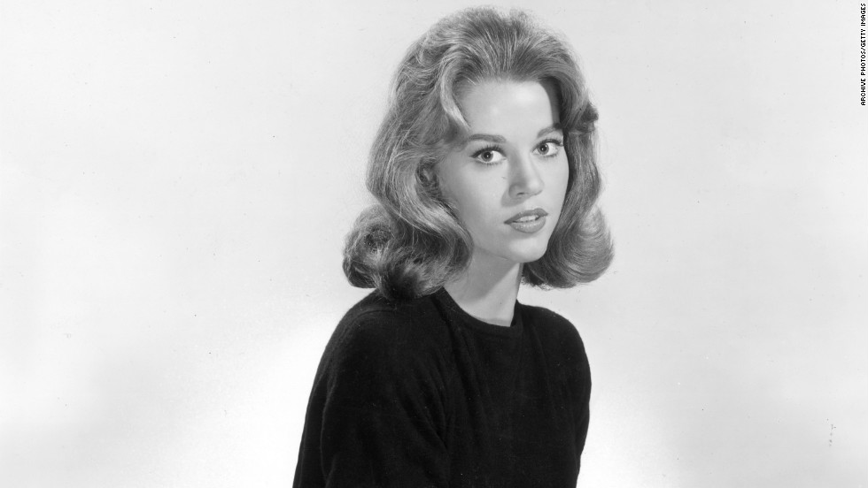 "This promotional studio portrait of Jane Fonda was for her first film, ""Tall Story,"" in 1960."