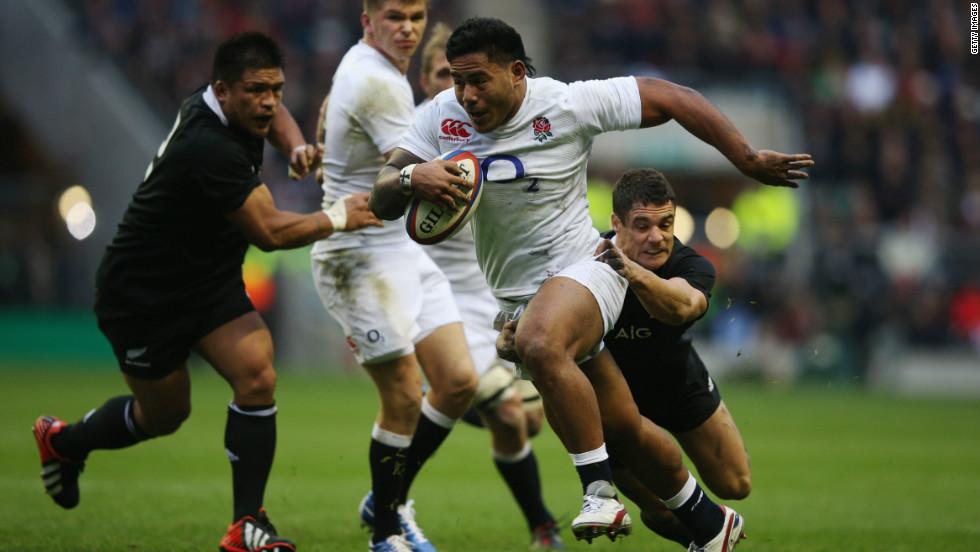 England ended the world champions' 20-match unbeaten run at Twickenham, inspired by Samoa-born center Manu Tuilagi.
