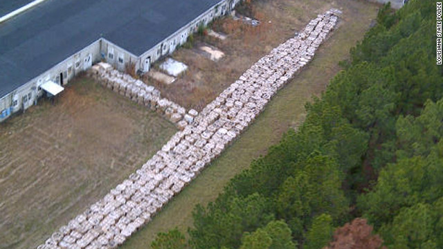 Six million pounds of explosive material was stored improperly at Louisiana's Camp Minden, Police said.
