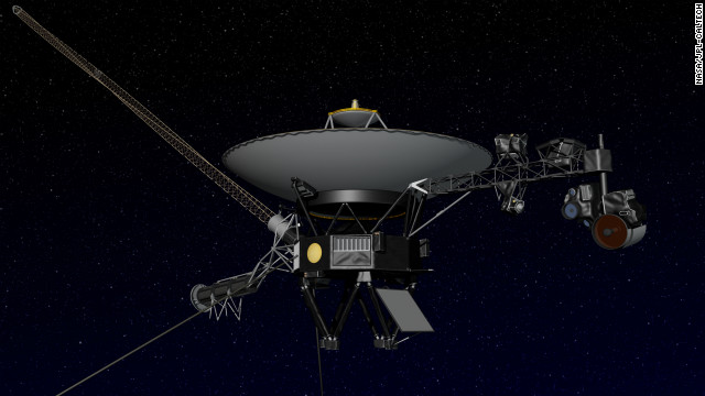 An artist's concept of NASA's Voyager spacecraft, which is now about 11 billion miles from the sun, NASA said.