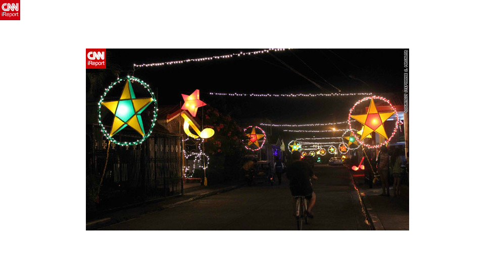 "The parol lanterns are most likely nowadays to be powered by electronic lights, but <a href=""http://ireport.cnn.com/docs/DOC-888450"">their beauty</a> still caught the eye of iReporter Stephanie Masalta."