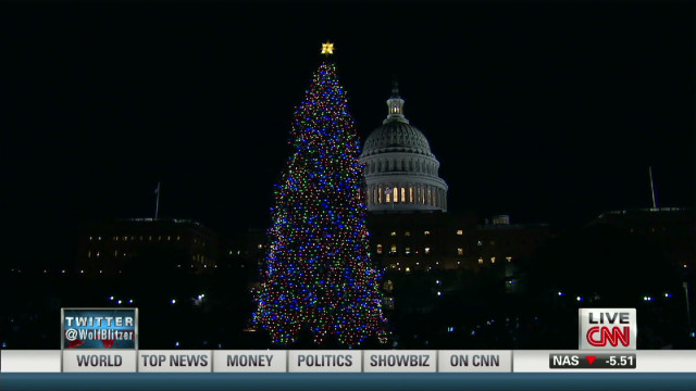 Lighting the Capitol Christmas tree