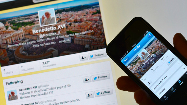 Pope Benedict XVI started a personal Twitter account on December 3.