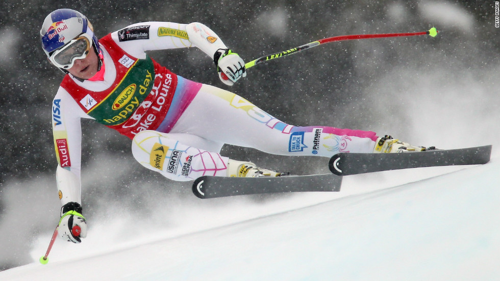 Lake Louise is Vonn's playground. She has dominated there in recent years, winning all three downhill events in December 2012, like she did the year before. Her request to race against the men there this year was rejected.