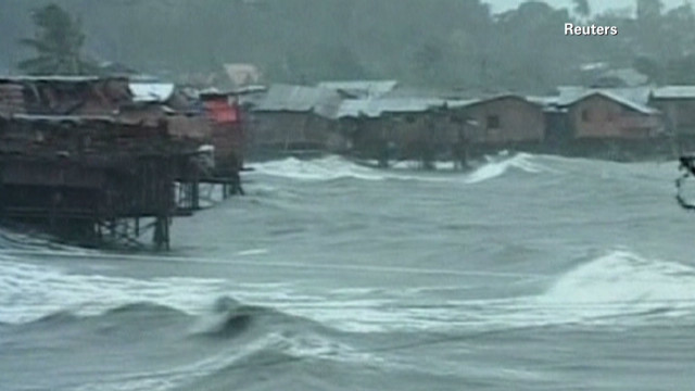 Typhoon Bopha causes destruction