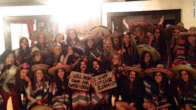 Chi Omega apologized for this photo that was seen as insensitive to Latinos.