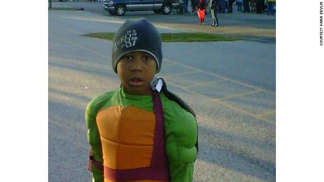 Kara Devlin's son, now 6, on Halloween.