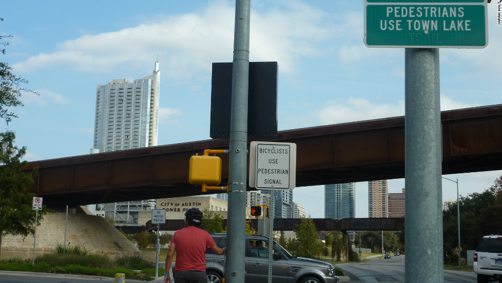 Cyclists can ride the Lance Armstrong Bikeway through the city. Many in Austin have stood by Armstrong despite the allegations of widespread and systematic doping.
