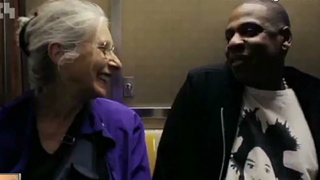 Woman to Jay-Z:  'Are you famous?'