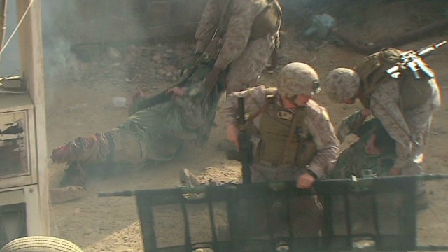 Amputee actors train soldiers for combat