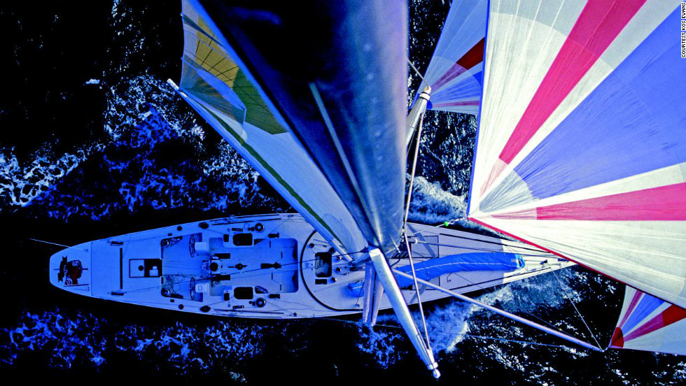 Kos, renowned as the pioneer of masthead photography, first hoisted to the top of a 24 meter mast during the America's Cup in 1982.