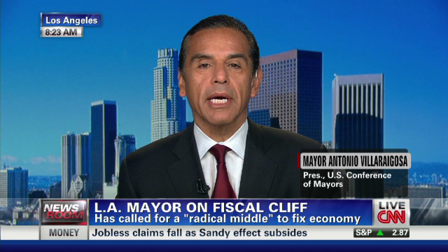 L.A. mayor talks about fiscal cliff